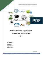 Guía de Ciencias  Naturales 7MO - 2015
