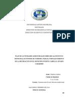 Ejemplo de Informe de servicio comunitario