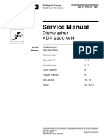 lavavajillas whirlpool ADP6600WH Ver 8542 660 53950 Service Manual