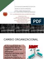 La Organización Como Un Agente de Cambio