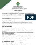PROGRAMA BOLSA PERMANÊNCIA - orientações