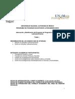Plan de Estudios. Tomo 1