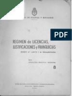 Decreto 1429 Régimen de Licencias, Justificaciones y Franquicias