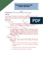 Draft Student Wellness Regulation