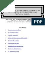 TALLER DE HABILIDADES DE RESOLUCIÓN DE CONFLICTOS  EN EL MARCO ESCOLAR