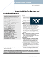 teratogenicity associated with preexisting gestational diabetes