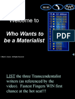 v1 who wants to be a materialist transcendentalism review game