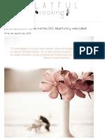 Comprensión ISO, Abertura y Velocidad