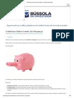5 Mentiras Sobre Investir Na Poupança - Blog de Investimentos