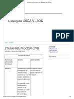 Etapas Del Proceso Civil - El Blog de Oscar Leon