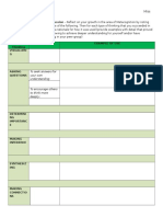 metacognition reflection sheet
