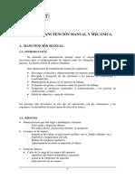 Manutencion Manual y Mecanica.