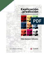 Explicacion Prediccion Schuster Clacso