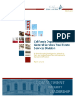 California Department of General Services' Real Estate Services Division Audit