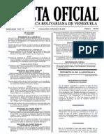 Gaceta Oficial Número 40.868 de fecha 14-3-2015