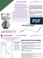 Instrucciones de Corte y Confección Del Patrón de Costura de Una Camisa Fina Para Caballero Modelo HM1339C1