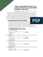 Encuesta DGESPE_plan 2012