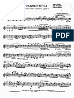 Tchaikovsky Canzonetta
