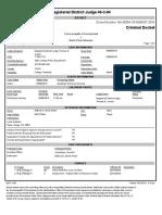 Brent Wilkerson Docket Sheet