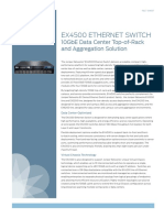 EX4500 Ethernet Switch 10GbE Data Center Top of Rack and Aggregation Solution