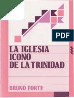 FORTE, B. - La Iglesia Icono de La Trinidad - Sigueme, 1992