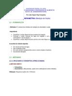 2.1 Hidrometria Condutos Livres