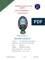Inf. Practica 1 - Balanza de Jolly FIS 102
