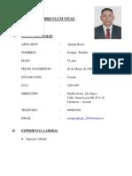 Curriculum Vitae Enrique Quispe