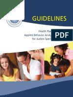 ABA Guidelines for ASD 11.2012