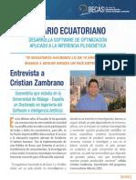 Entrevista Becario Cristian Zambrano
