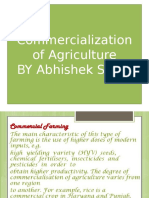 Commercialization of Agriculture