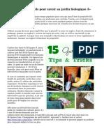 « Pratiques conseils pour savoir au jardin biologique »