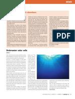 Underwater Solar Cells