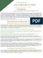 Status of Sunnah in Islam
