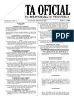 Gaceta Oficial Número 40.868 de la República de Venezuela, 14 de marzo de 2016