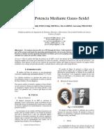 Flujo de Potencia Mediante Gauss Seidel Paper PDF