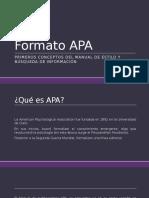 Formato APA- Búsqueda de Información