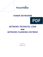 Network Technical Code and Network Planning Criteria