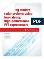 Optimizing modern radar systems using low-latency, high-performance FFT coprocessors