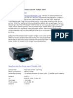 Spesifikasi Dan Fitur Printer Scan HP Deskjet K209