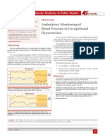 Ambulatory Monitoring of Blood Pressure in Occupational Hypertension