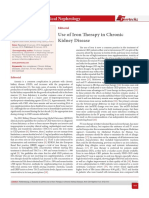 Use of Iron Therapy in Chronic Kidney Disease