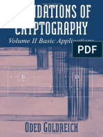 Foundation of Cryptography, Vol. 2 - Basic Applications