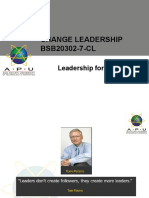 Lecture 8 - Leadership for Chnage