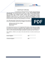 Dodd Frank Certification Form