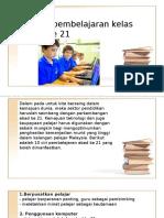 10 Ciri Pembelajaran Kelas Abad Ke 21