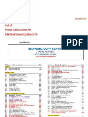 Catalog List -DeC'15 | Loader (Equipment) | Vehicles