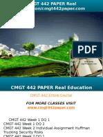 CMGT 442 PAPER Real Education-cmgt442paper.com