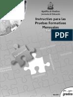 Instructivo Pruebas Formativas 7§-11§ Espa¤ol (2011)