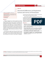 Structural Differences in Respiratory System and Airway of Parturients